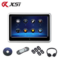XST 9 Inch Car Headrest Monitor HD 1080P Video DVD Player Touch Screen With USB/SD/IR/FM Transmitter/Speaker/Wireless Game
