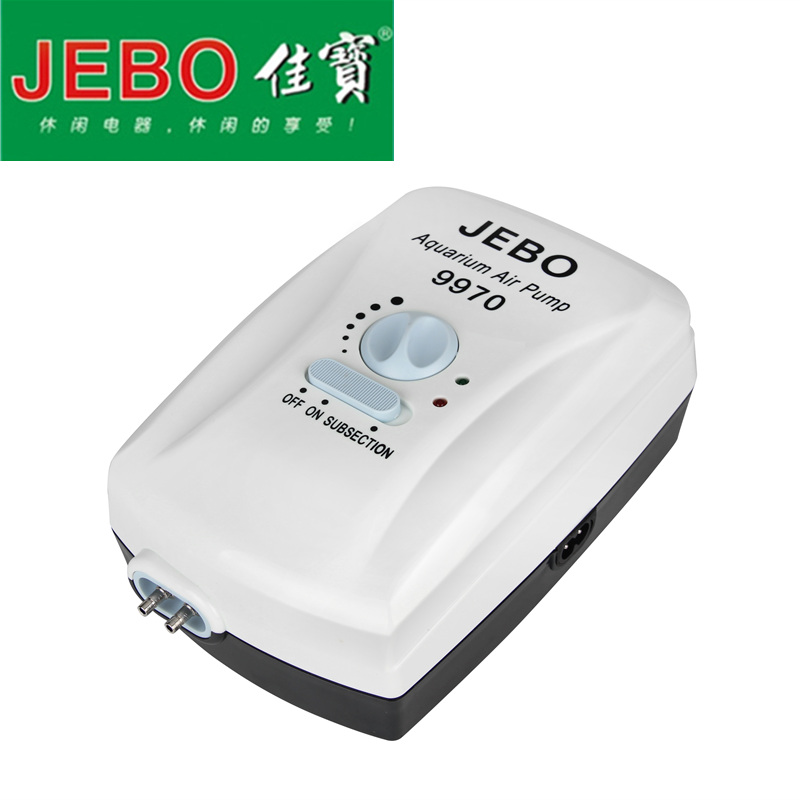 JEBO Battery Storage Air Pump AC/DC Dual Use For Aquarium Fish Tank Portable Air Pump for Fishing 24 Hours Battery Life 9970