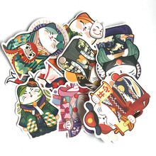 9pcs Fortune Cat lucky kids toys pvc paster funny decal scrapbooking diy sticker decoration laptop waterproof cartoon accessory цена