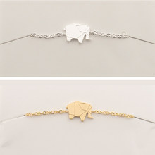 GORGEOUS TALE Tiny Elephant Anklet Lucky Charm Graduation Gift Friendship Personalized Summer Girls Origami Woodland Jewelry(China)