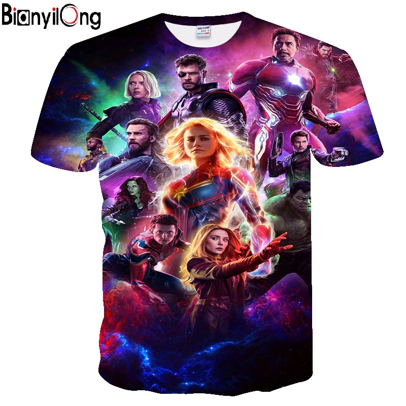 2019 New design   t     shirt   men / women Avengers Endgame 3D print short sleeve   t     shirts   Harajuku style   t     shirt   streetwear tops