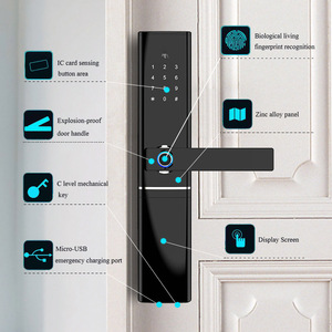 Image 3 - חכם אלקטרוני מנעול טביעת אצבע מנעול דלת אבטחה אינטליגנטי מנעול ביומטרי Wifi דלת מנעול עם Bluetooth APP נעילה