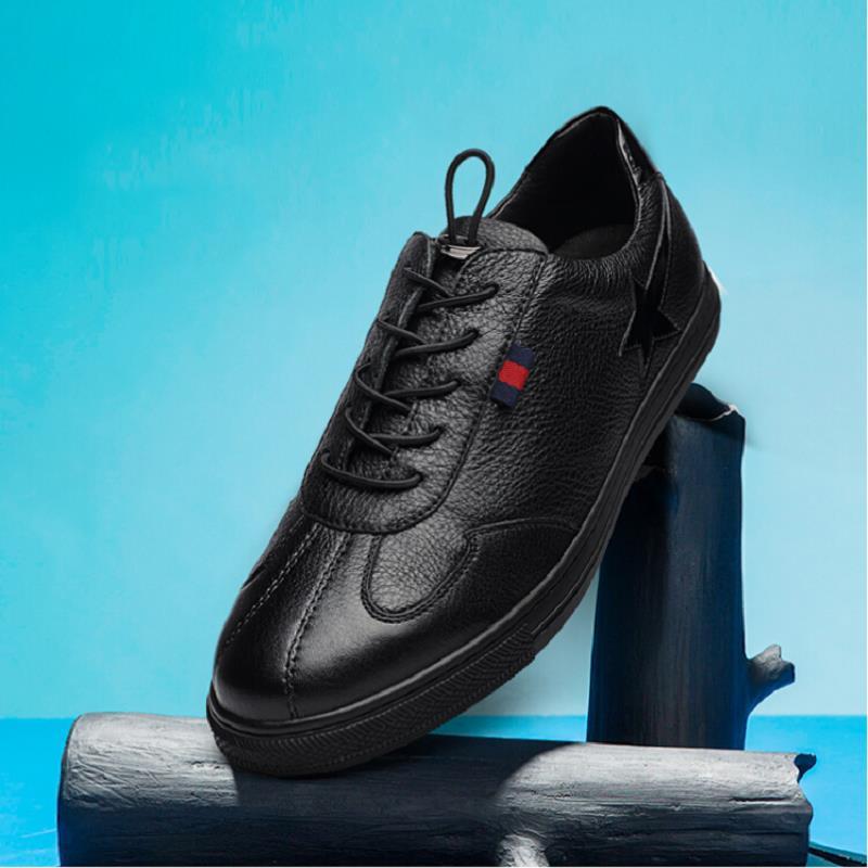 Qualidade Sapatos Moda Homens Altura Preto Alta Tenis Krasovki De Tabuleiro Casuais Couro Dos Mycolen Crescente Masculino Masculinos TSvwqHH