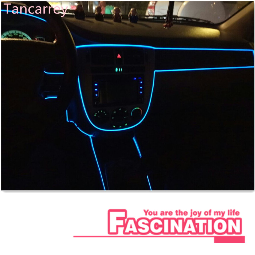 Car Styling Neon Light Decoration Strip For Nissan Versa Sunny Sylphy Livina Qashqai Teana March Tiida X-trail Muran Accessories yuzhe 2 front seats auto automobiles car seat cover for nissan qashqai note murano march teana tiida x trail car accessories