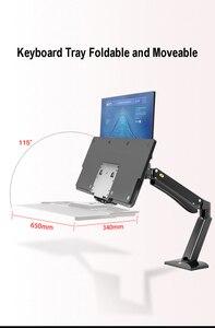 Image 3 - NB FC40 Ergonomische Höhe Einzustellen Computer Sitzen Stehen Workstation 24 35 zoll Monitor Halterung Halterung mit Tastatur Platte Schreibtisch stehen