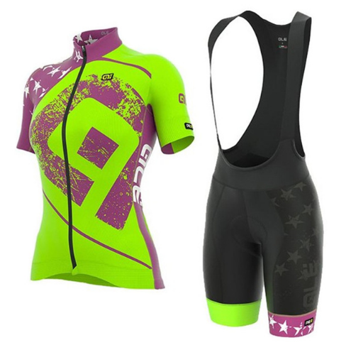 2018 ALE Cycling Jersey Short Sleeve Bib shorts suit women Bike mountain mujer Clothing Set Maillot Bicycle Clothes uniform J18 xintown men s outdoor cycling jersey sets bib shorts sport short sleeve cycling jersey mountain bike clothing wear suit