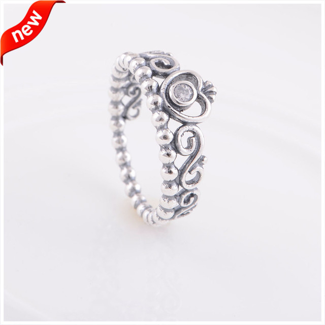 Fits European Style Authentic 925 Sterling-Silver-Jewelry My Princess Silver Rings for Women FANDOLA Jewelry Wholesale FLR15018