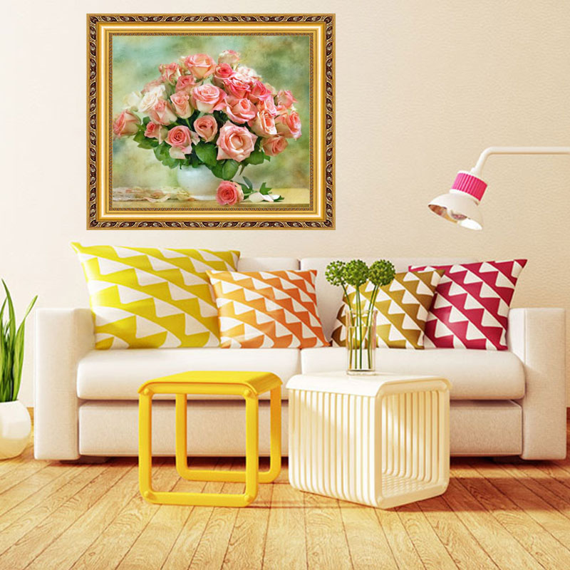 Beautiful Flower 5d Diy Diamond Painting House Decoration