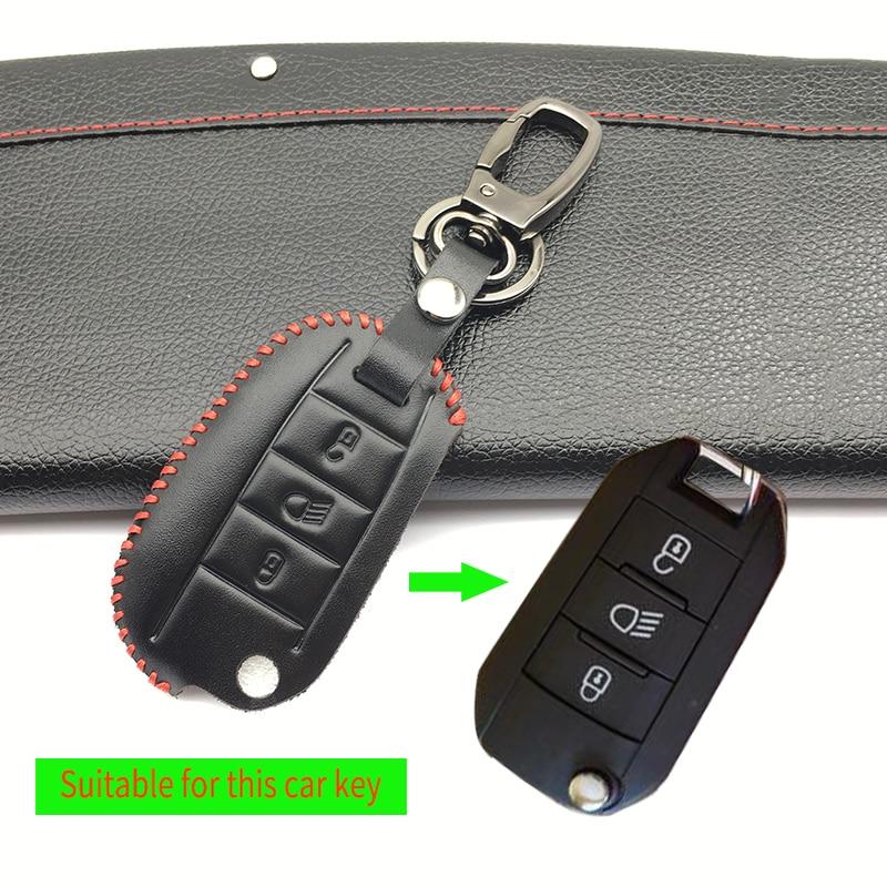 Leather Car Key Shell Case Cover for Citroen C4L C5 C3 CACTUS C6 C8 Xsara Picasso