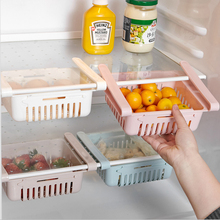 Telescopic Kitchen Refrigerator Organizer Fridge Freezer Storage Rack Drawer Organizer for Fridge Food Storage Container купить недорого в Москве