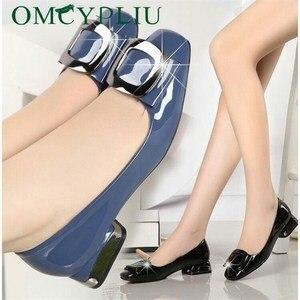 Image 1 - Máy bơm Nữ Giày Nữ Mùa Hè 2019 Mới Thiết Kế giày Cao gót Nữ với Đế 40 41 Công Việc Đen Người Phụ Nữ Thanh Lịch Giày zapatos mujer
