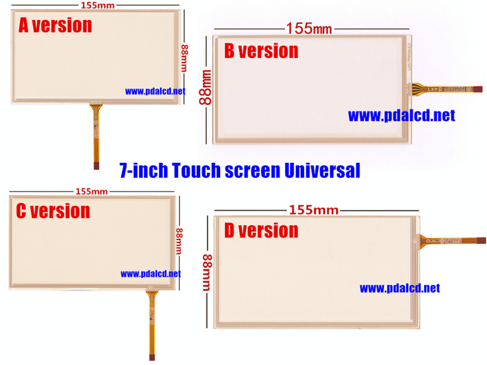 6.2 inch 155mm*88mm 4 wire Resistive TouchScreen for HSD062IDW1-A00, A01 ,A02 Car DVD navigation Touch screen digitizer panels