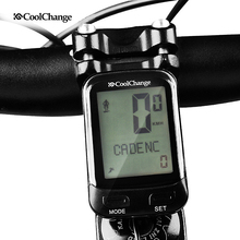CoolChange Bike Wireless Cadence Computer Rainproof 24 Multifunction Bicycle Outdoor Cycling Speedometer Stopwatch Backlight