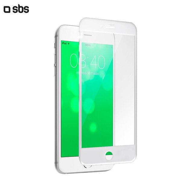 Защитное стекло 4D для  iPhone 8/7/6s/6, белая рамка, SBS