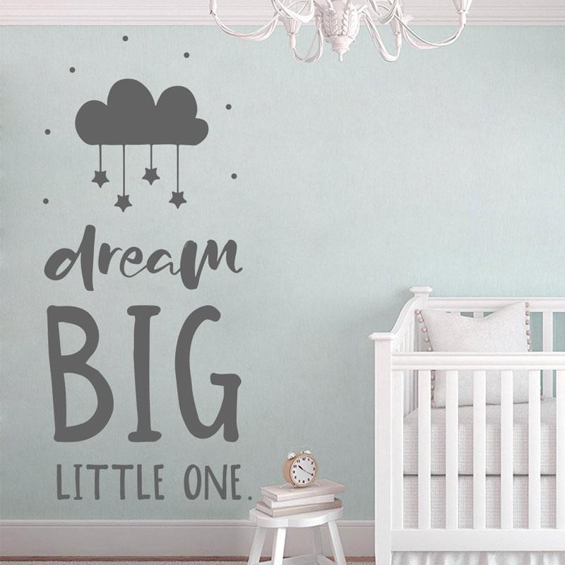 Us 5 55 25 Off Dream Wall Decal Quote Nursery Vinyl Sticker Scandinavian Decoration For Kids Baby S Bedroom Diy Murals Bo27 In