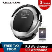 LIECTROUX Robotic Vacuum Cleaner B6009 2D Mappa e Giroscopio di Navigazione, con la Memoria, di aspirazione 3000 pa, virtuale Bloccante, Lampada UV, Bagnato Mop
