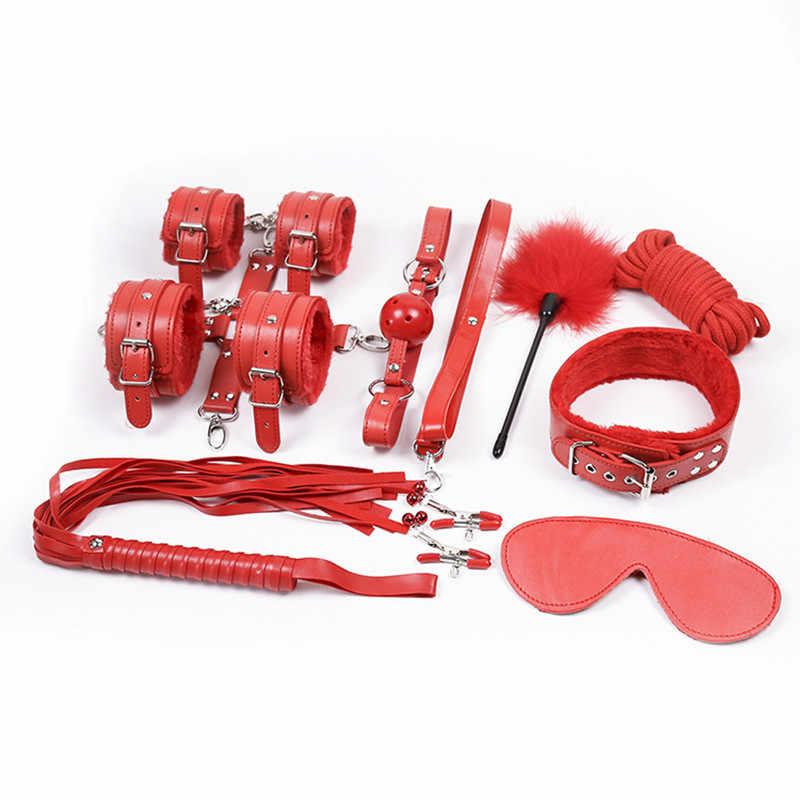 大人のおもちゃ緊縛ボンデージセット乳首クランプ女エロカップル大人のゲーム鞭手の袖口ギャグ乳首クランプ拘束男