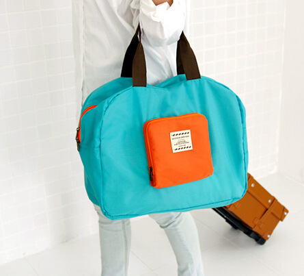 Portable Design Foldable Polyester Storage Bag Travel Handbag