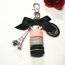 Pastel de botones, regalos de moda, cajas de regalo, anillo dominante de la manera, regalos de navidad, creativa cadena dominante del coche, el encanto del paquete