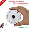 960 P IP Câmera 1.3MP Lente Fisheye Panorama Visão Nocturna do IR HD segurança CCTV Camera 360 Graus Vista P2P max 128G 2way voz
