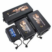 Jiguoor S/M/L/XL Size Black Plastic package Flashight Tool Storage Case Box 18650/14500 LED