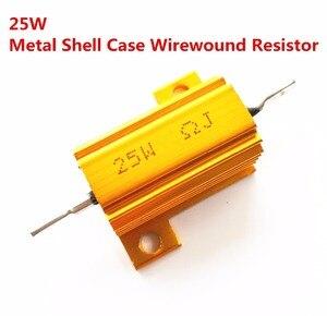10 sztuk pełna wartość 25 W aluminium Power metalu Shell Case rezystor drutowy 0.01 ~ 100 K 0.05 0.1 0.5 1 1.2 2 6 8 10 20 100 10 K ohm