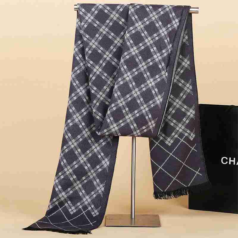 Fashion font b Tartan b font Scarf Winter Warm Cashmere Scarf Men Business Casual Echarpes Foulards