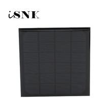 Mini Módulo de carga de energía Solar, Panel Solar estándar de 6V, 500Ma, 3 vatios, 3W, silicona monocristalina epoxi, bricolaje