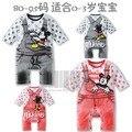 Venta nuevo otoño y el invierno ropa bebé mickey minnie mouse 2 pantalones del babero del mono del mameluco
