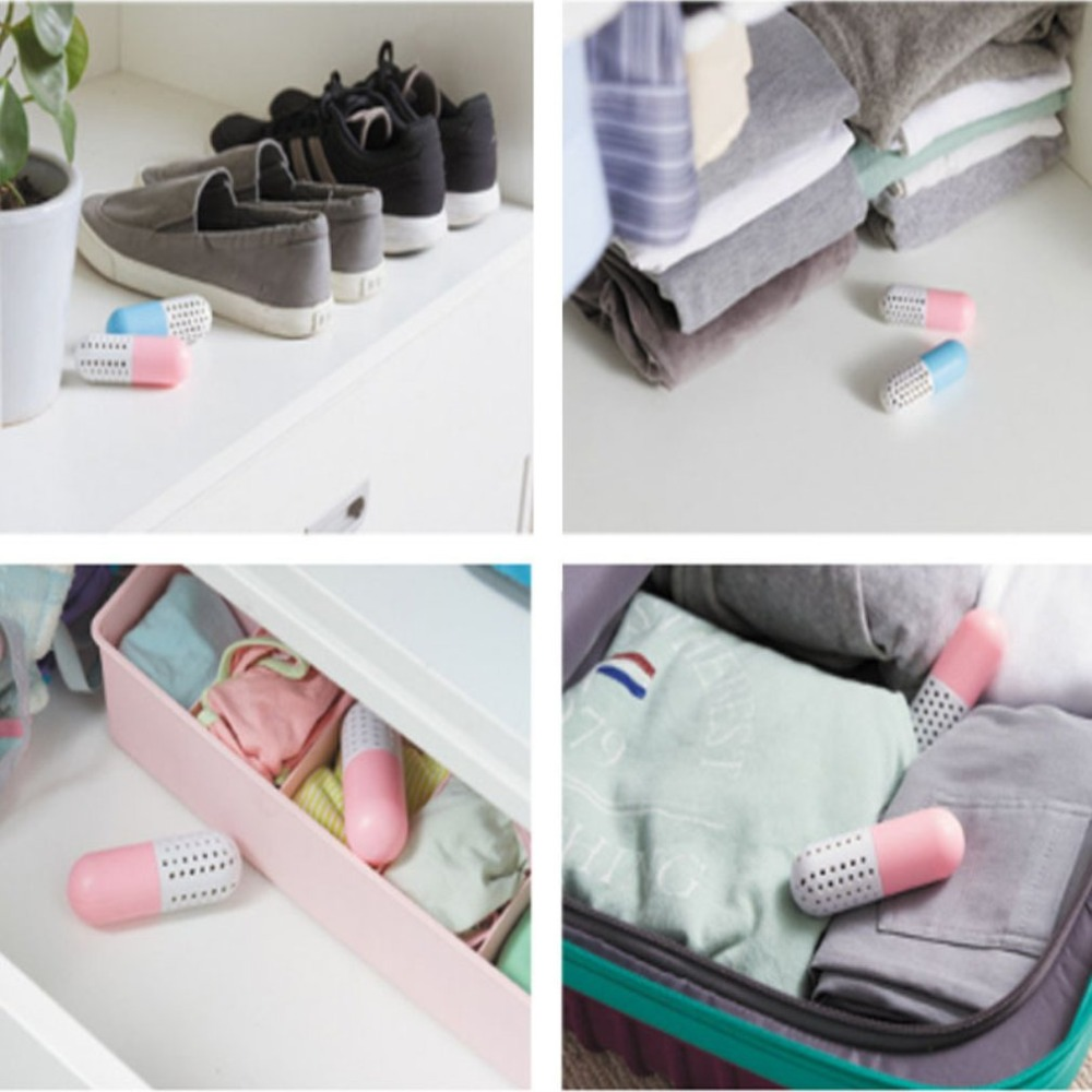 2pcs/set Shoes Dryer Shoes Clothing Smell Remover Desiccant Deodorant Closet Silica Gel Moisture Absorber Home Cleaning Tools