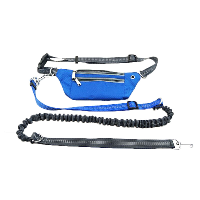 Dog Leads Harnesses Waist waterproof Pockets Running Jogging Dog Leashes chain For large dogs puppy Traction