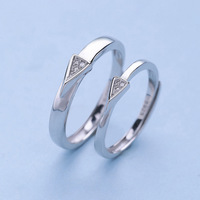 S s925 sterling silver love brand couple ring fashion sterling silver ring silver ring