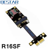 PCI E PCIe 1x To Mini PCIe MPCIe WiFi Adapter Card Riser Extender Cable X1 5cm