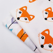 White Cute Animal Printing Cotton Twill Fabric Home Textile DIY Sewing Quilting Material Crafts Cloth For Child