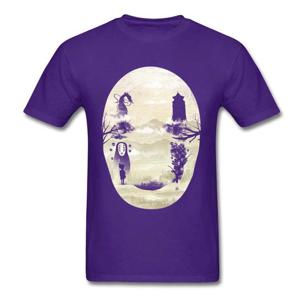 Хаяо Миядзаки Унесенные Призраками Без лица Футболка японского Аниме Забавный плакат футболки мужская мода Dragon Ball AC DC Футболка с персонажами из комиксов