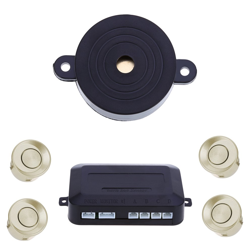 imágenes para 4 Sensores de Aparcamiento Car Auto Parque de Asistencia de Copia de seguridad Posterior del Revés Del Radar Del Zumbador de Alarma Kit de Monitor de Sistema de Notificación de Voz Inglés
