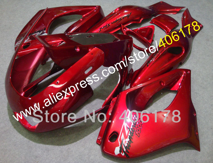 Hot Sales,For Yamaha YZF1000R Thunderace 1997 1998 1999 2000 2001 2002 2003 2004 2005 2006 2007 Full Red Bike Fairings hot sales for honda vtr1000f 97 05 1997 1999 2000 2001 2002 2003 2004 2005 vtr1000 f vtr 1000 f 1000f full red fairings