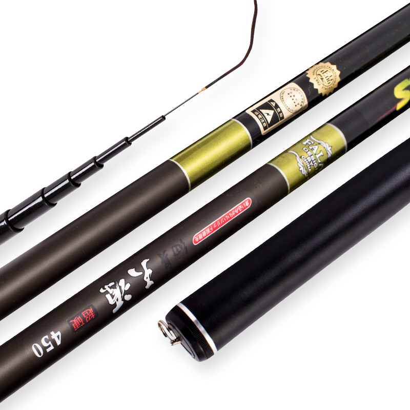 Portable Carbon Fiber Stream Rod Fishing Rod Carp Rod Super Fine Thin Light Power H 3.6m 6.3m 7.2m Hand Rod Fishing Tackle carbon coated stream fishing rod yongsung feng yu max carbon fresh water carp fishing tackle pole 5 sections 3 1m free shipping