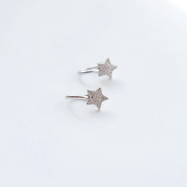 New Cute Korean Style AAA Cezch Zircon Little Star Non Piercing Clip Earring Ear Cuff Tragus Earring 2018 Femme Bijoux Brincos 5