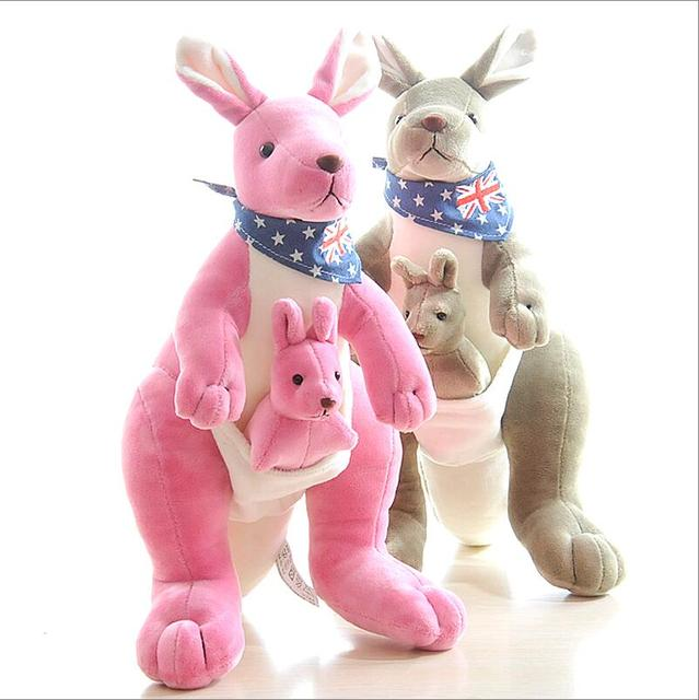Kangaroo Plush Doll Creative Mother Kangaroo Baby Doll Toy Child
