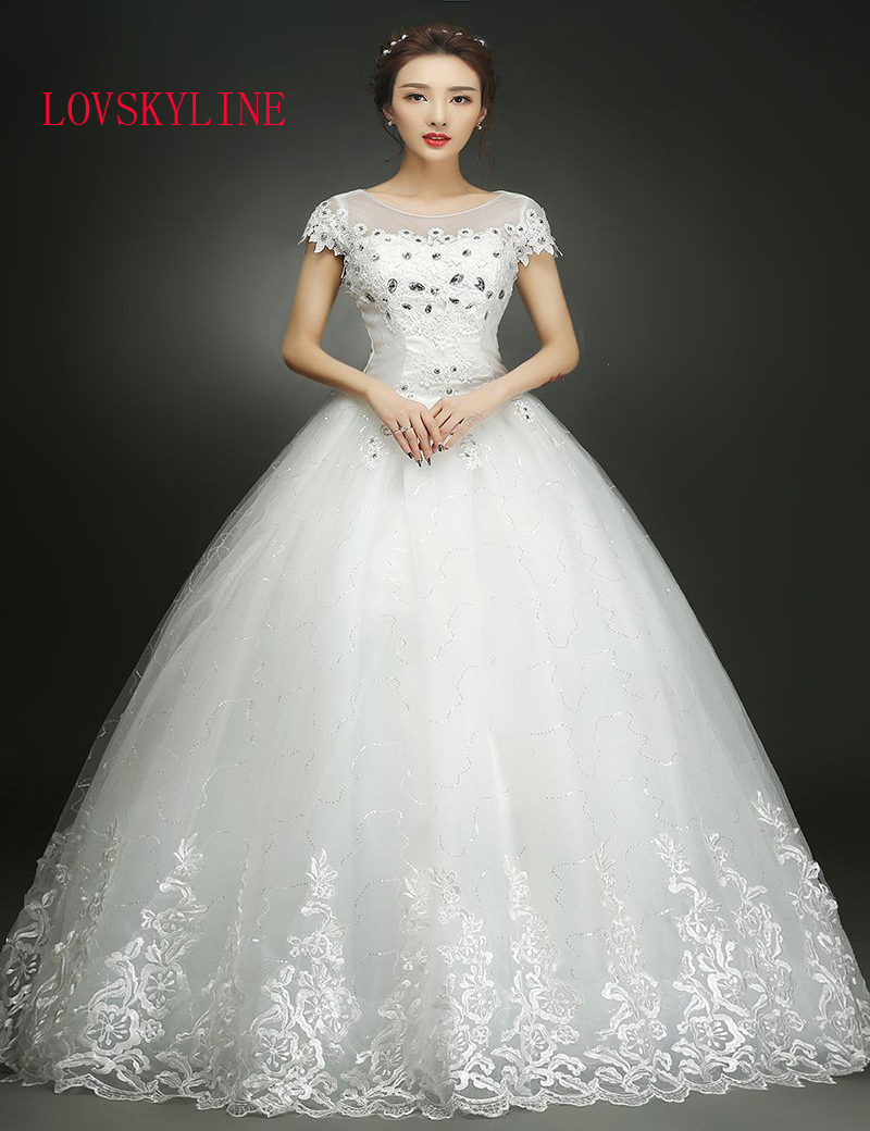Distinctive design plus size wedding dresses wedding gown for Crystal embroidered wedding dress