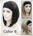 Meia peruca 3/4 perucas de cabelo Sintético dourado peruca headband do perucas de comprimento médio Frete grátis