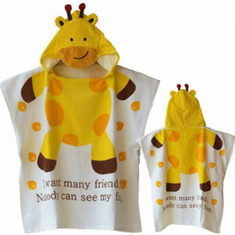 100%cotton Kids Beach Towel Cartoon Bath Baby Children Hooded Bath Towel Baby Stuff Handdoek Toalha Doekjes Bad Poncho Kinderen