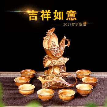 Creative Rough pottery Automatic Kung Fu tea set Tieguanyin Tea Table High grade Tea Gift Factory Direct Sale Free Shipping