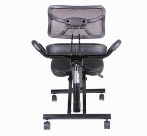 Image 1 - Silla para rodillas con espalda y ASA, ergonómica, de cuero, con ruedas