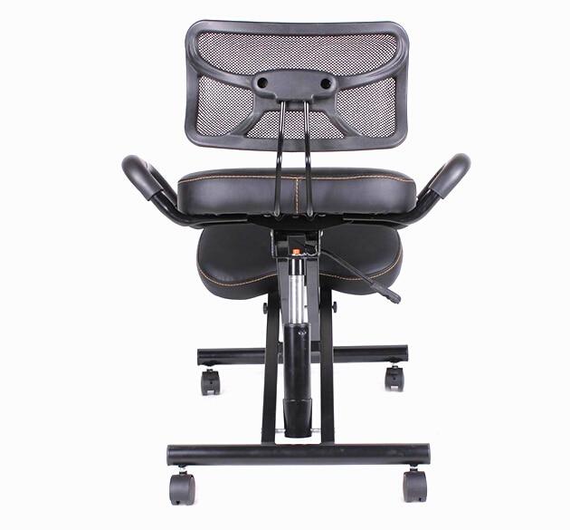Silla para rodillas con espalda y ASA, ergonómica, de cuero, con ruedas