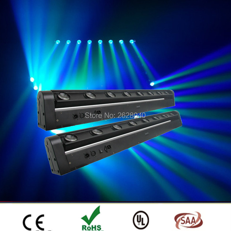 (2 pièces/lot) 8x12 w led RGBW led moving bar, DMX tête mobile faisceau de lumière DMX 512 étape de Contrôle d'éclairage