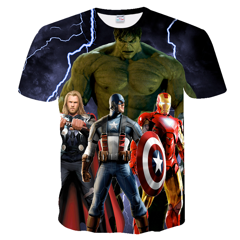 2018 t shirt men Avengers Alliance Black Widow Spider-Man Raytheon Mens Womens t-shirt Iron Man summer tops Tees shirts groot