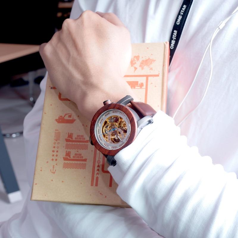 BOBO BIRD Relojes mecánicos de los hombres de la marca de lujo - Relojes para hombres - foto 6