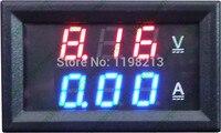 Gerilim Voltmetre Ampermetre DC Volt Çift Ekran Paneli Metre Akım Amper Şant Kırmızı ile Mavi Dijital LED DC100V 100A